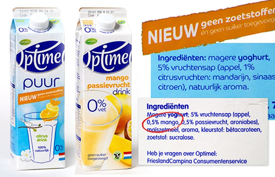Optimel combi puur en drink