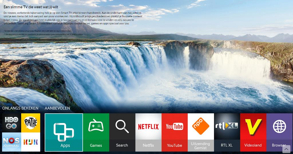 Screenshot Samsung smart tv apps