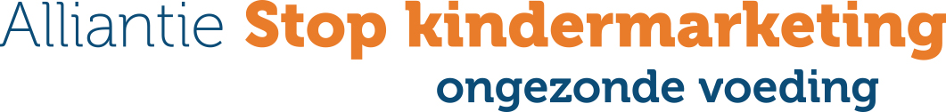 Logo Alliantie Stop kindermarketing ongezonde voeding