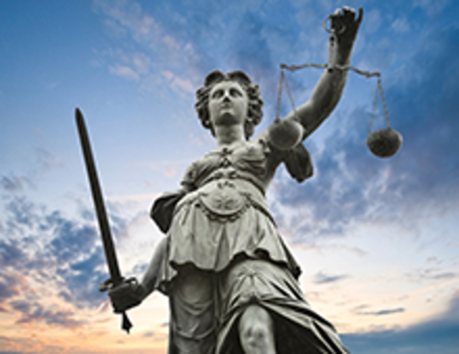 vrouwe justitia lucht