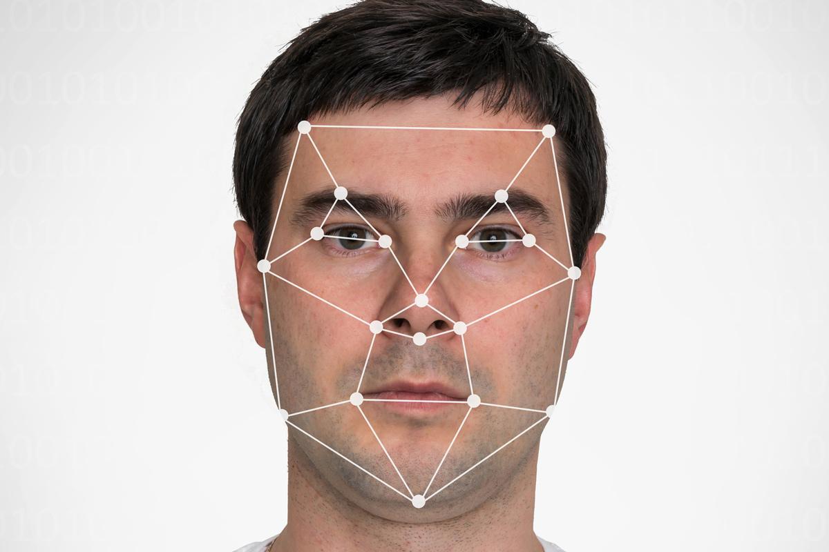 face recognition-man points