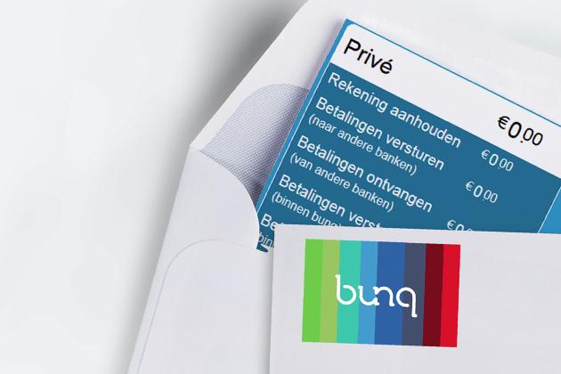 26d9ab6ede1f80 Naam van de bank (Bunq) en een lijstje met voorbeelden van de kosten