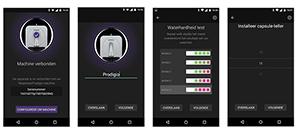 Nespresso Prodigio bediening smartphone screenshots