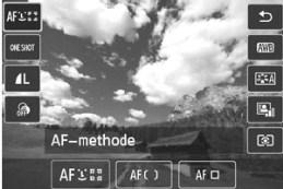 Canon EOS M menu Q creatieve modi