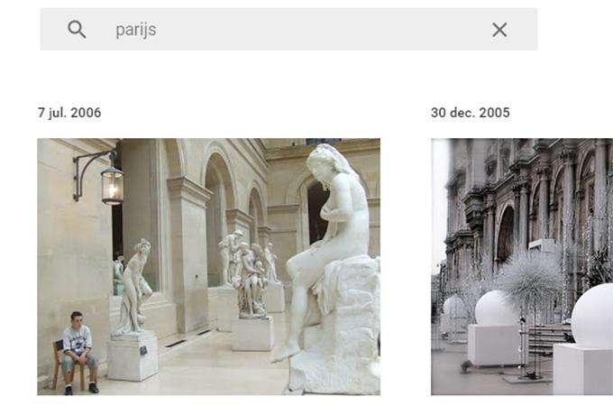 Google Foto's app zoekopdracht Parijs 680 x 450