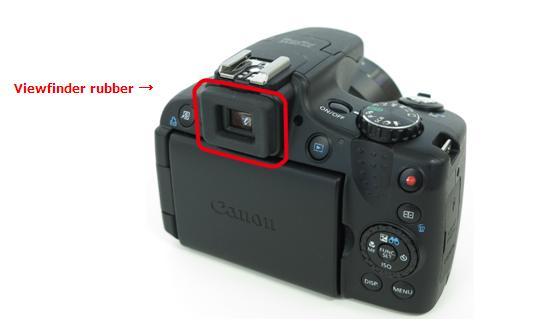PowerShot SX50 HS viewfinder rubber_