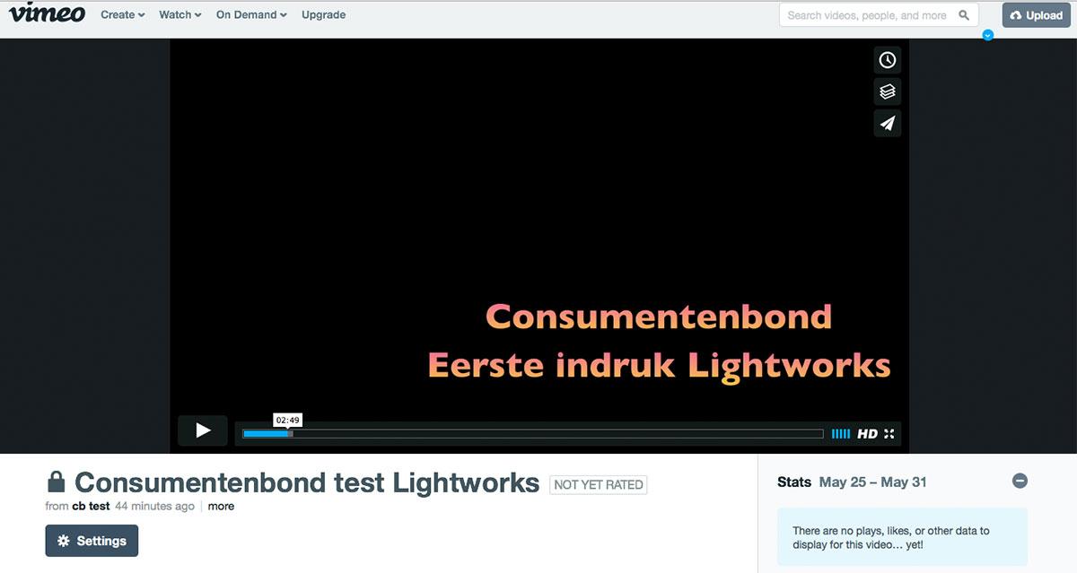 Upload naar Vimeo