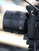 Panasonic GH4 lens dicht op statief - klein