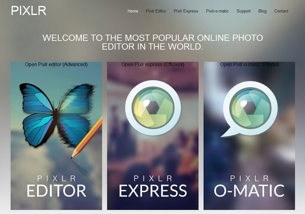 Pixlr website