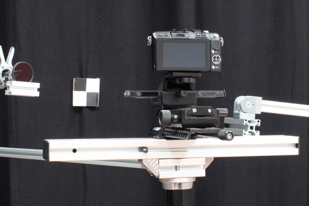 Hoe wij fotocamera testen reflectie bron buiten beeld