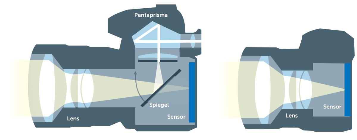 Spiegelreflex vs systeemcamera landscape