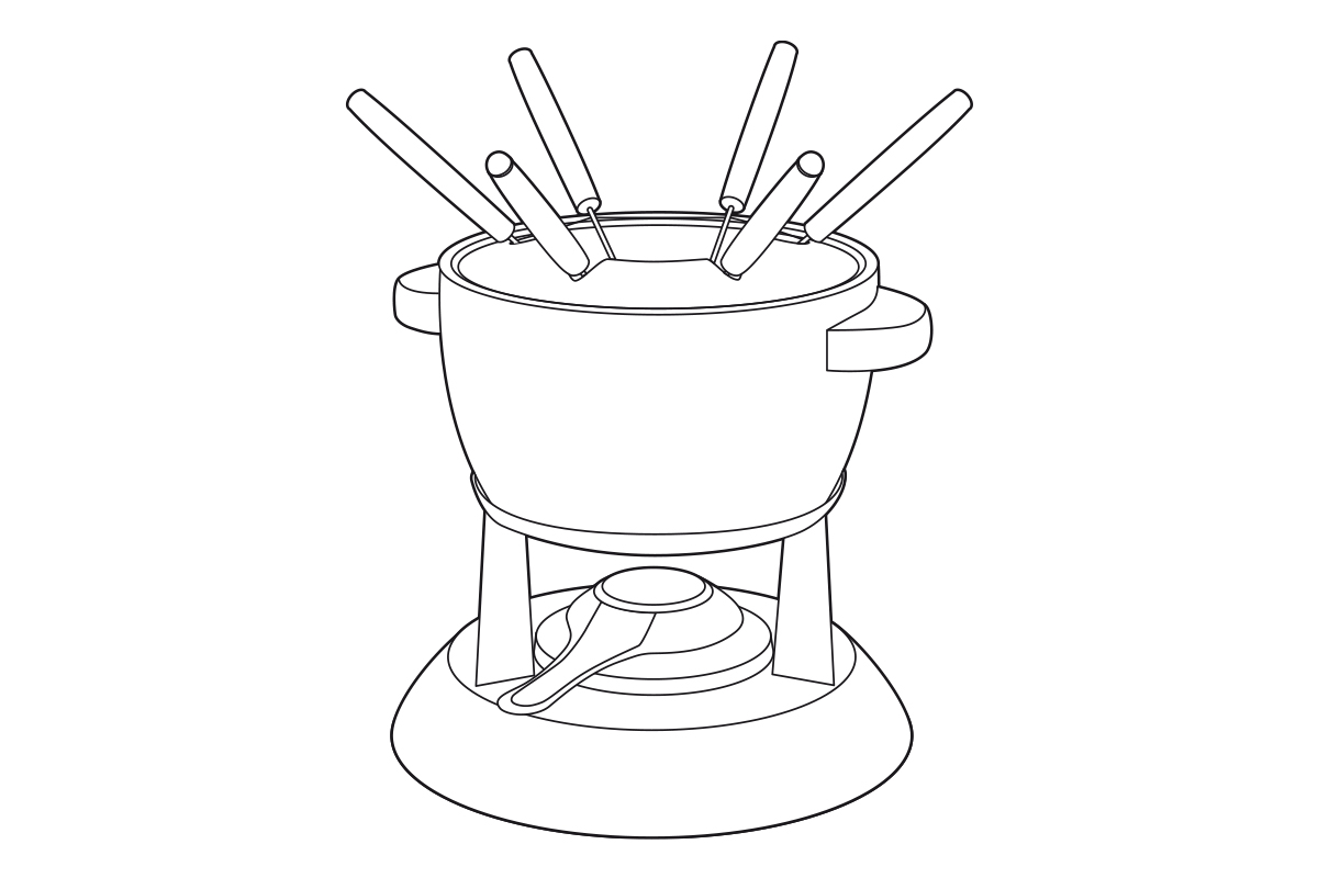 fondue-illustratie