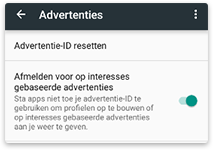 smartphone privacy android google advertenties