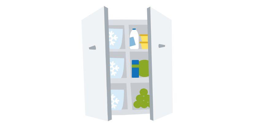 koelkast in onverwarmde schuur