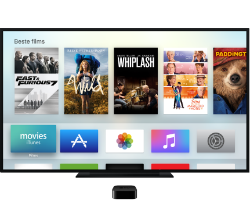 Apple TV - home screen