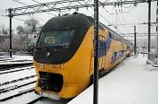 Intercity in de sneeuw