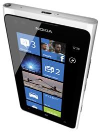 Nokia Lumia 900 White home screen