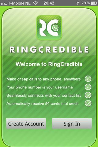 RingCredible account aanmaken