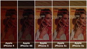 Vergelijking foto's Apple iPhone 4, 4S, 5, 5c en 5s