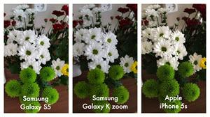 Foto's van bloemen met de Samsung Galaxy S5, de Samsung Galaxy K zoom en de Apple Iphone 5s