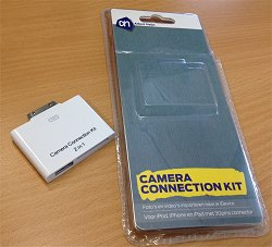 Albert Heijn Camera Connection Kit voor iPhone werkt niet goed.