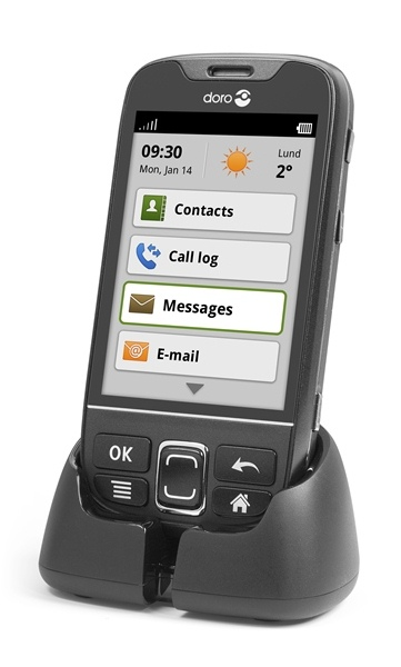 Doro PhoneEasy 740 in laadstation