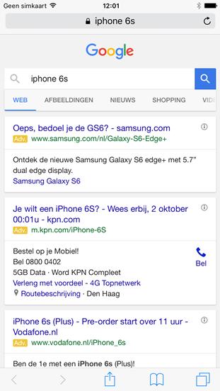 google met ads