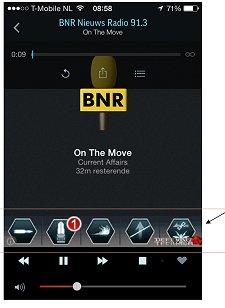 Gratis apps als TuneIn Radio tonen soms 'foute' banners.