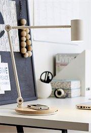 Ikea Riggad bureaulamp met draadloos laadstation