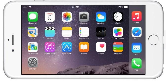 iOS 8 aangepast