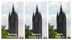 Foto's van een kerk met de Samsung Galaxy S5, de Samsung Galaxy K zoom en de Apple Iphone 5s