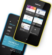 Nokia Asha 501 geel