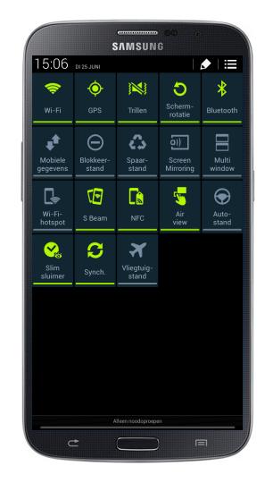 Samsung Galaxy Mega 6.3 Instellingen