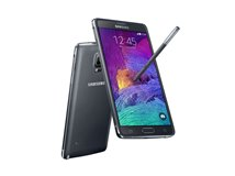 Samsung Galaxy Note 4 schuin