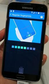 Samsung Galaxy S5 foto5 vingerafdrukscanner