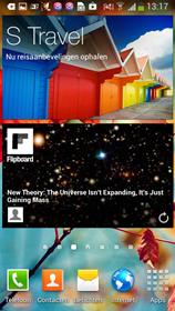 Screenshot van het scherm van de Samsung Galaxy S4 mini