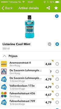 Sjoprz Listerine Cool Mint groot