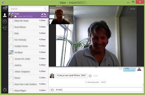 Viber laat je internetbellen, sinds versie 3 ook op de pc.