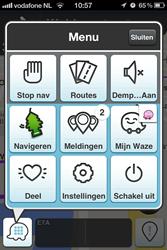 Waze menu