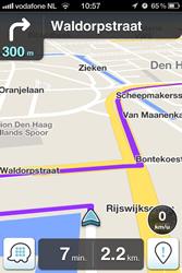 Waze navigatie