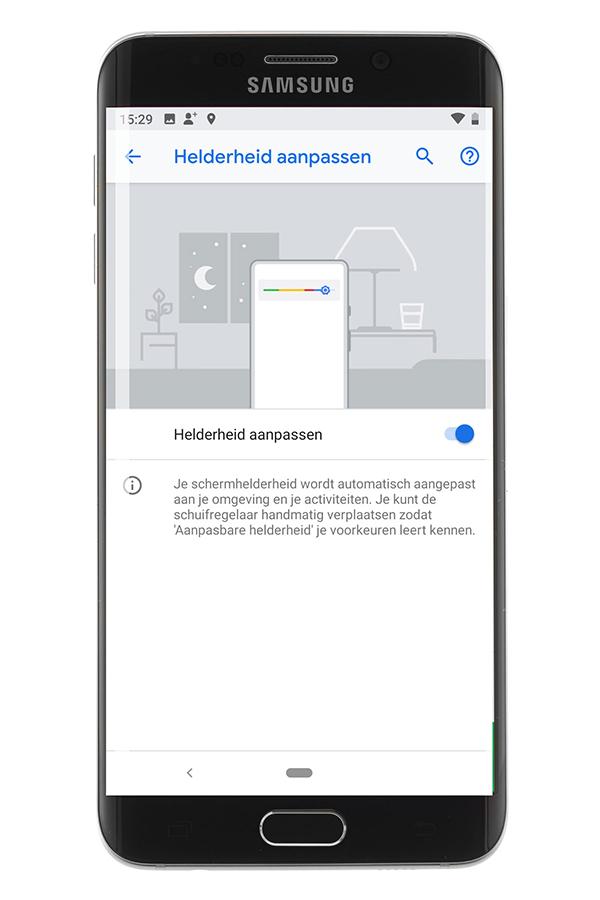 android-helderheid-aanpassen