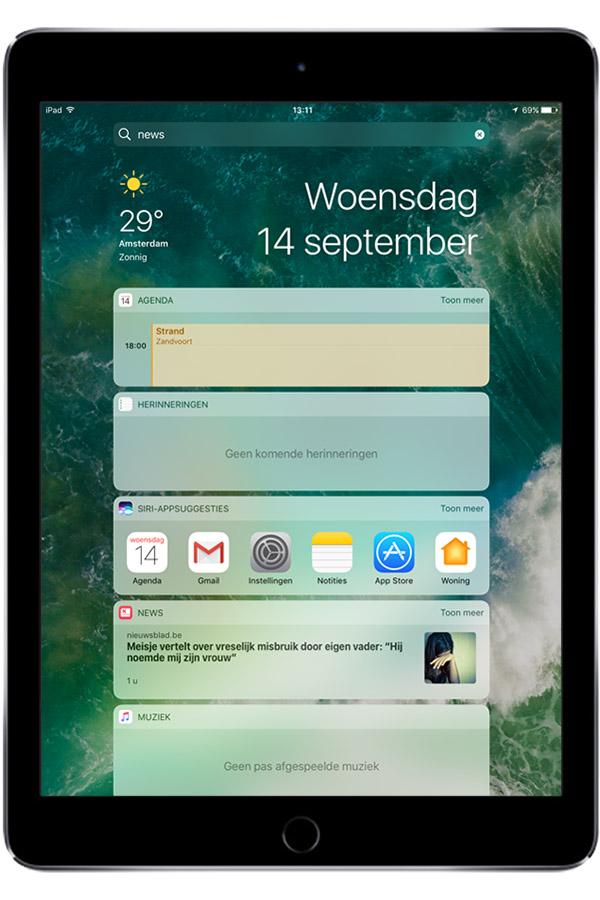 ipad-air screenshot agenda
