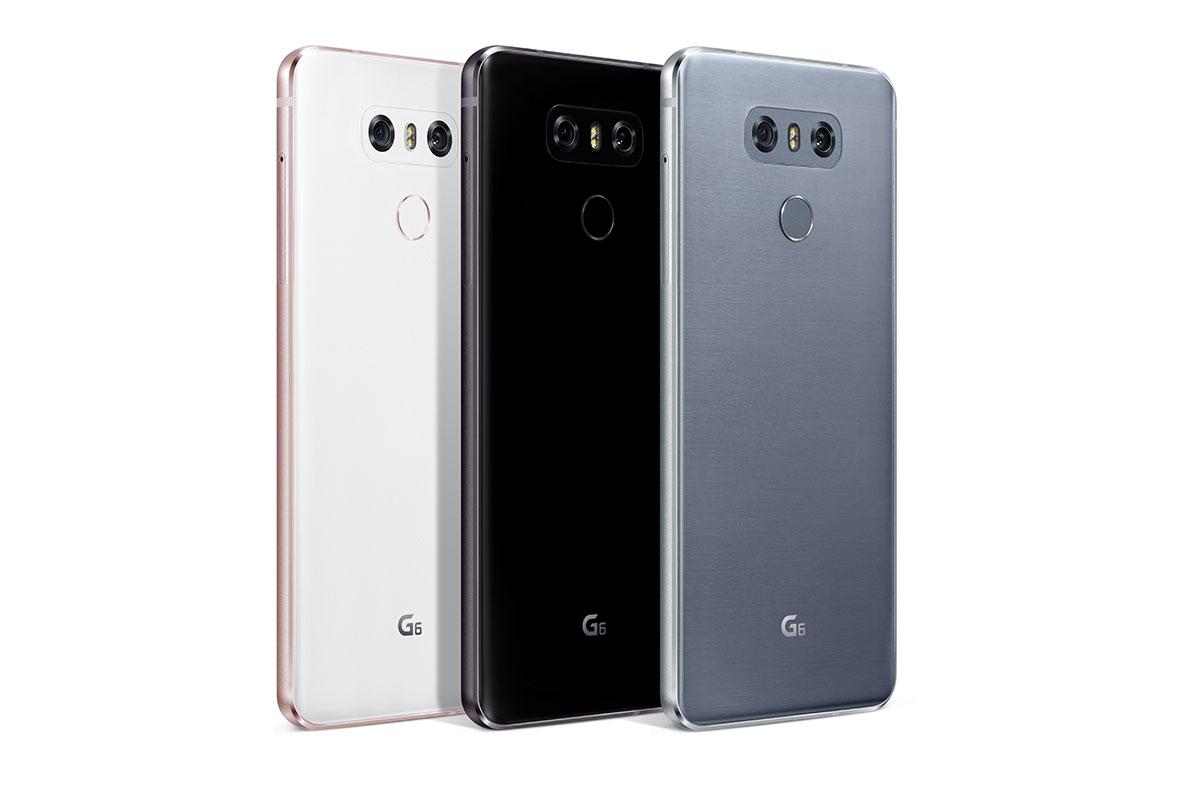LG G6 meerdere modellen achterzijde