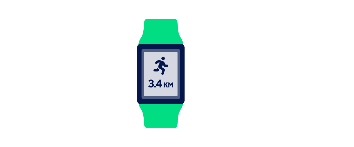 Smartwatch - GPS - illustratie