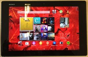 Sony Xperia Z2 Tablet scherm
