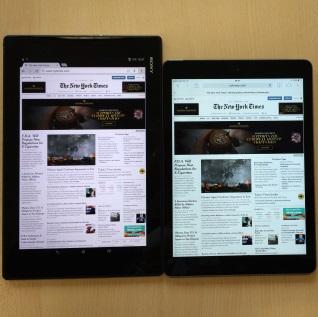 Sony Xperia Z2 Tablet verticaal internet
