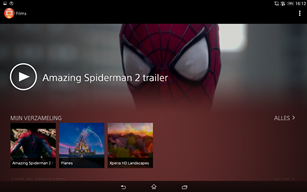 Xperia Z2 Tablet films app
