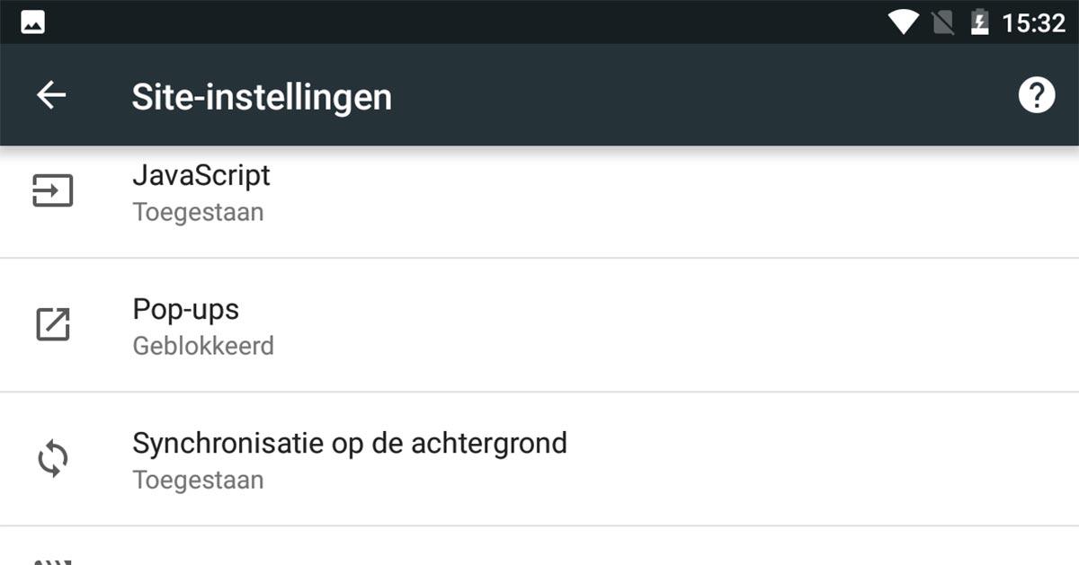 Android-javascript-uitzetten