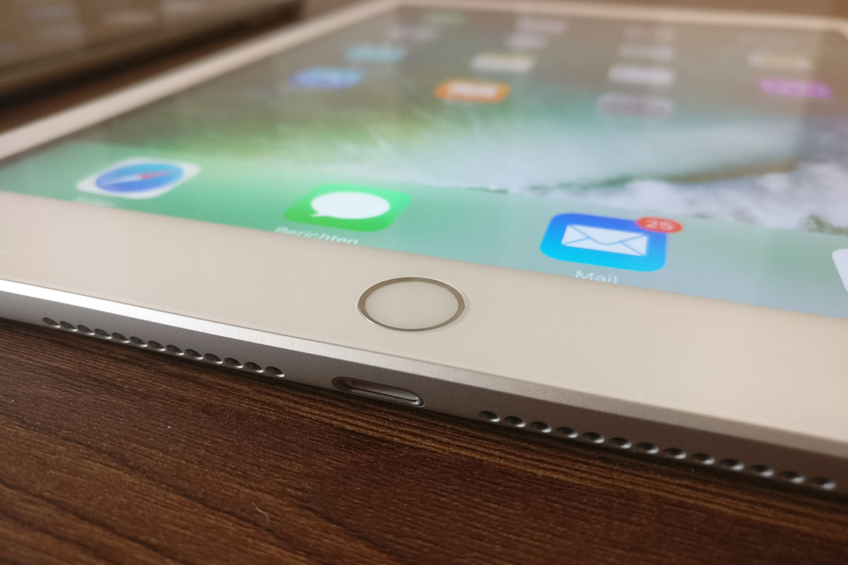 iPad 2017 - voorkant ingezoomd