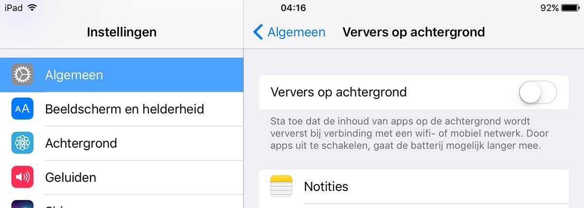 ipad-ververs-apps-op-achtergrond